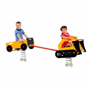 Wip aanhangwagen in combinatie met de bulldozer