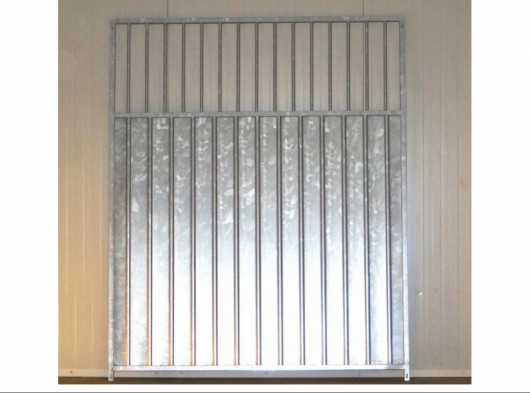 Damwand kennelpaneel met spijlen 150x184cm