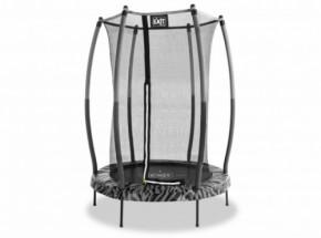 Trampoline EXIT Tiggy junior grijs/zwart - met veiligheidsnet - Ø140cm