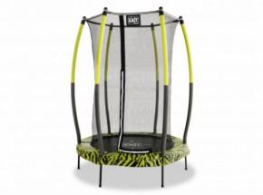 Trampoline EXIT Tiggy junior - groen/zwart - met veiligheidsnet - Ø140cm