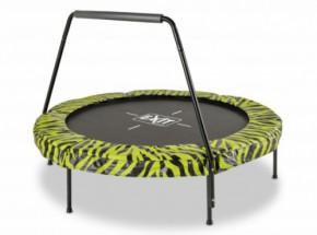 Trampoline EXIT Tiggy junior groen/zwart - met beugel - Ø140cm