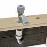 Houten zandbak met keuken | kraan met aansluiting voor de tuinslang