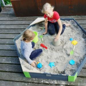 Houten zandbak Zeshoekig EXIT Aksent Medium