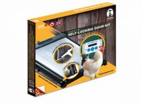 Zelfsluitende aluminium deur Chickenguard met 2 geleiders van 59,5cm 25x30cm