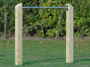 Duikelrek Skill RVS duikelstang 125cm 2 geïmpregneerd houten palen 200cm