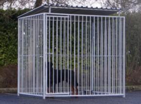 Hondenkennel FLINQ Inclusief dak 2x1.5m