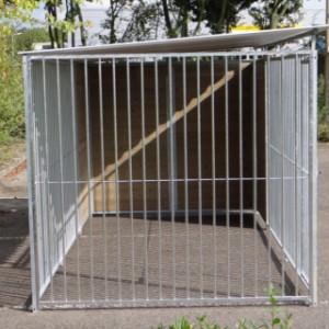 Hondenkennel FIX Inclusief dak 4x2m