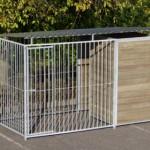Hondenkennel FIX Inclusief dak 3x1.5m