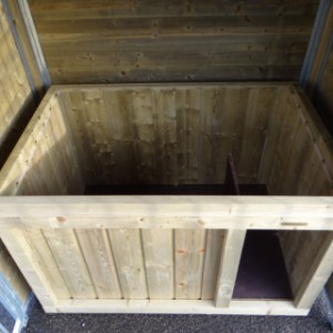 Hondenhok Block | binnenkant