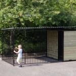 Ruime deuropening in hondenkennel FIX zwart