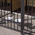Hondenkennel COMPART met 2 nachthokken, vlondertjes en voederstellen