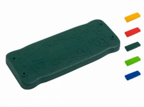 Schommelzitje Curve gekleurd rubber, aluminium plaat, RVS ketting