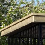 Hondenkennel met luxe afgewerkt dak met overstek