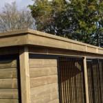 Luxe afwerking van het kennel dak   FORZ 5x2 zwart
