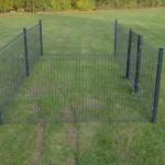 Kippenren Rectangle Antraciet 5x2,5m