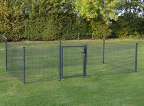 Kippenren Rectangle Antraciet 5x2,5m
