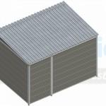 Kunststof hondenkennel FORZ met dak 3x2m