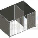 WPC hondenkennel FORZ 3x2m - bovenaanzicht zonder dak