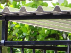 Dakkoker voor hondenkennel zwart 3 meter