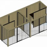 Bovenaanzicht kennel Compart 2 - 5x2m
