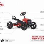 Skelter BERG Buzzy Jeep Rubicon - specificaties