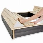 Houten zandbak met bankjes en deksel | Zandbak XL EXIT Aksent