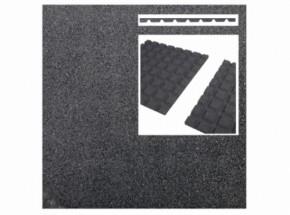Rubber tegel grijs 25mm 50x50cm