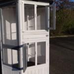 Voliere Hannah White-Grey | kleine deuropeningen