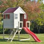 Speelhuis My Lodge met glijbaan - plateauhoogte 90cm JoyPet