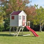 Speelhuis My Lodge met glijbaan - plateauhoogte 90cm
