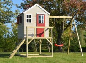 Speelhuis My Lodge met schommel - plateauhoogte 90cm JoyPet