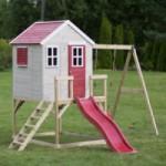 Speelhuis My Lodge met glijbaan en schommel - plateauhoogte 90cm JoyPet