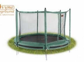 Pro-Line 12 trampoline InGround met veiligheidsnet Groen 3,65m