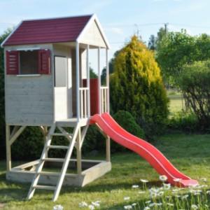 Speelhuis Summer Adventure House met glijbaan en zandbak