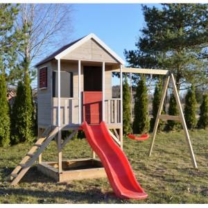 Speelhuis Summer Adventure House met glijbaan en schommel JoyPet