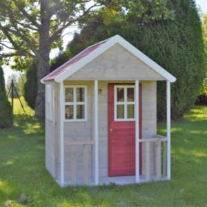 Houten speelhuisje voor in de tuin | Nordic Adventure House