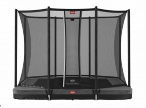 BERG InGround trampoline Ultim Favorit Grijs - met net Comfort 280x190cm