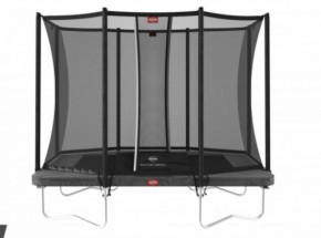 BERG trampoline Ultim Favorit Grijs - met veiligheidsnet Comfort 280x190cm