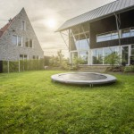 BERG InGround trampoline Favorit Grijs Ø200cm