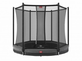 BERG InGround trampoline Favorit Grijs - met net Comfort Ø200cm
