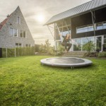 BERG InGround trampoline Favorit Grijs Ø270cm