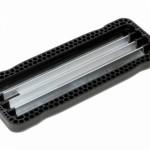 Schommelzit Curve XL zwart rubber, aluminium plaat, RVS ketting