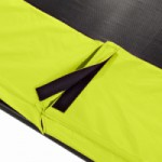 Limoengroene trampoline rand EXIT Silhouette