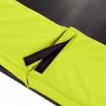 Trampoline EXIT Silhouette met limoengroene rand