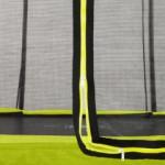 Trampoline met limoengroene rand