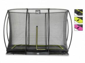 Trampoline EXIT Silhouette Ground met veiligheidsnet 305x214cm (10x7ft)