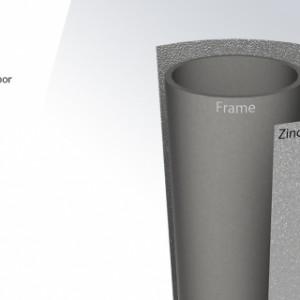 Verzinkt frame | Trampoline BERG InGround Ultim Favorit