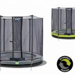 Trampoline EXIT Twist Ground - met veiligheidsnet groen - grijs Ø183cm