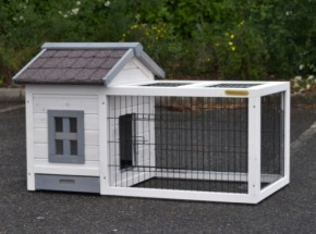 Konijnenhok Caviahok Pretty Home Anti Knaag - white - met lade 106x68x64cm