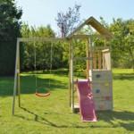 Speeltoestel Junior Activity Tower met glijbaan, schommel en zandbak